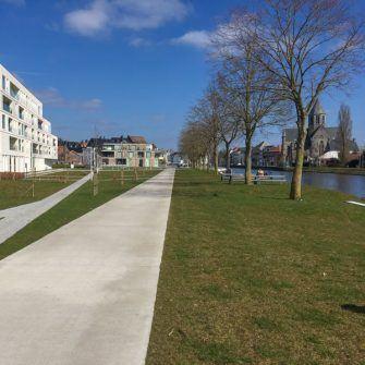 Bike path near Oudenaarde Belgium