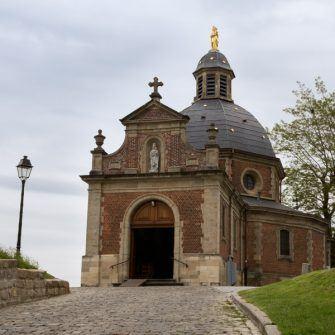 Chapel 'Onze-Lieve-Vrouw van Oudenberg' on top of the Oudenberg, Geraardsbergen, cycling in Flanders, Belgium