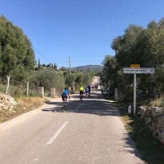 Riding from Es Capdellà towards Puigpunyent
