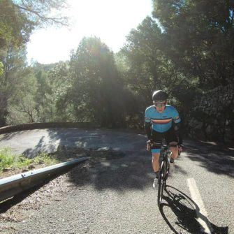 Cycling climb after Orient