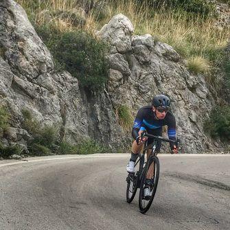 Fast descent by bike down Sa Calobra Mallorca