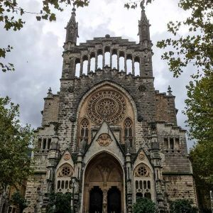 Cathedral in Soller, a great place to stay in mallorca for cycling with lots of cycling hotels mallorca