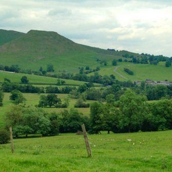Thorpe Cloud, on a beautiful cycling route in Derbyshire's White Peak District
