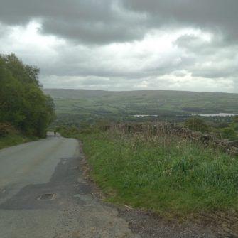 Gun Hill cycling climb, Derbyshire, Peak District