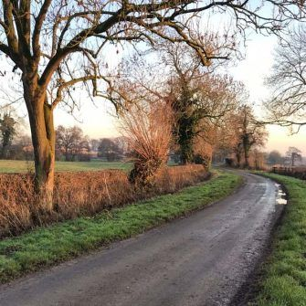 Cycling training on a beautiful country road in Derbyshire