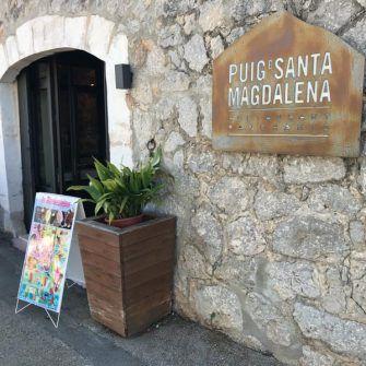 Outside of the Santa Magdalena cafe Mallorca