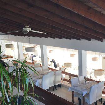 Inside the Ermita Santa Magdalena restaurant