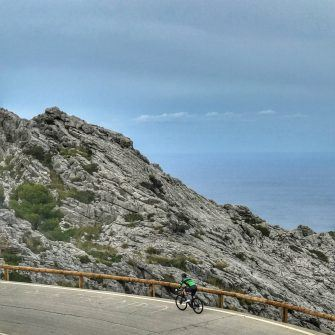 Cycling climbing Sa Calobra Mallorca by bike