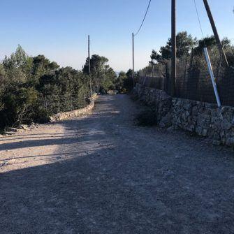 Rough road surface at the top of the Sobremunt climb, Mallorca's hardest climb