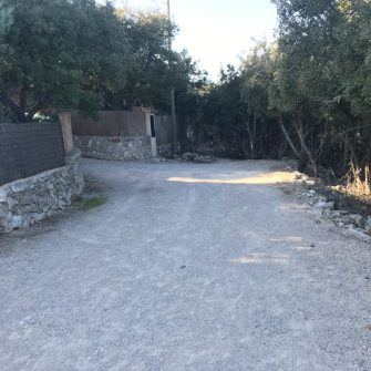 Gravel track on Sobremunt climb Mallorca