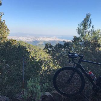 Views from the top of Sobremunt climb, Mallorca