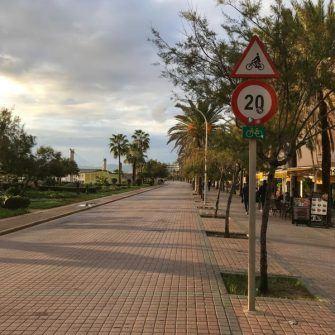 Cycle path along the Palma coastline