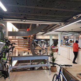 Interior of new Bike Breaks Girona shop
