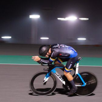 Jonathan Parker at a training evening at the Lusail International Race Circuit
