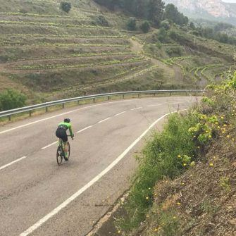 Cyclist in the Costa Daurada, some of the best cycling in Spain