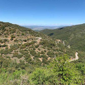 Mountain roads of the Prades, costa daurada