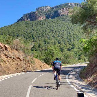 Climbing La Mussara by bike