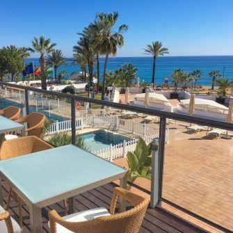 View of the sea from Paradores de Mojacar hotel, Almeria