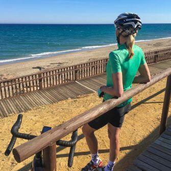 Cyclist by the sea, Costa Almeria