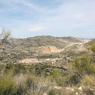 View of town and quiet hills, Almeria, Spain