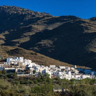 Town of Velefique on the synonymous cycling climb