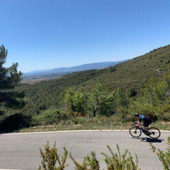 Descending in the hills of the costa daurada