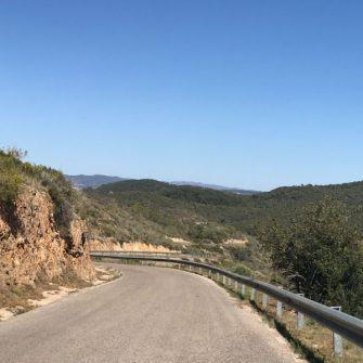 Winding mountain road perfect for cycling catalonia