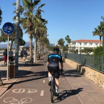 Bike path in Cambrils, Costa Daurada