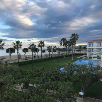 View from balcony room at Estival Eldorado resort Costa Dauarada