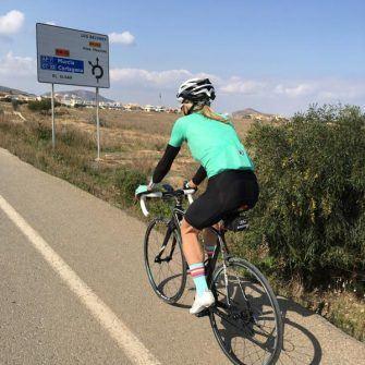 Cyclist in Murcia, Spain