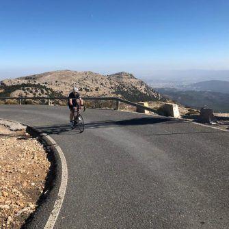 Top of El Morron cycling climb, Murcia