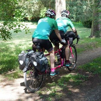 Cat and Raz raising money for charity by cycling around the world