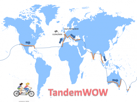 map of tandemwow route across world