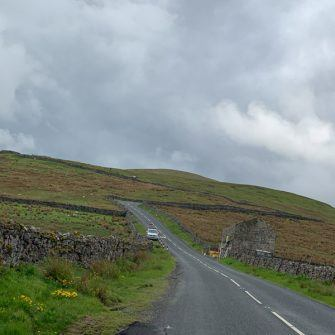 Looking up the Buttertubs Pass from the bottom near Thwaite, Yorkshire Dales
