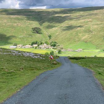Climbing up from Halton Gill on the Etape du Dales route
