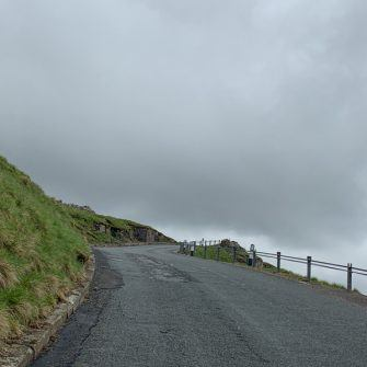 Steep section of Fleet Moss road, Yorkshire Dales