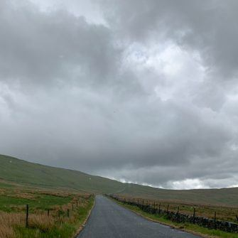 Looking up the road up Fleet Moss, Yorkshire Dales Etape du Dales route
