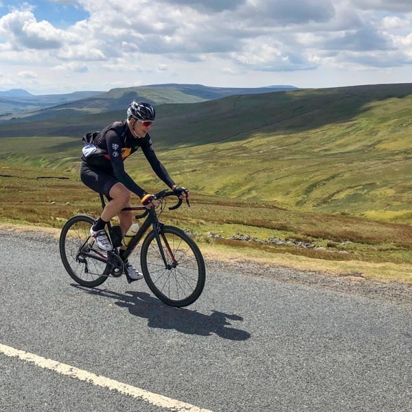 Cycling up Buttertubs Pass from Hawes