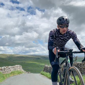 Climbing Malham Cove by bike