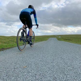Nearing the top of Park Rash by bike