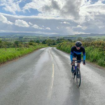 Climbing up from Wensleydale by bike