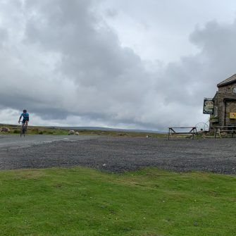 Coming past the famous Tan Hill Inn, Etape du Dales route
