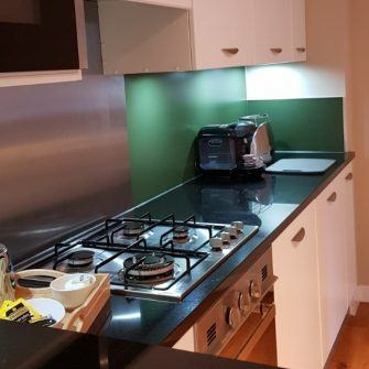 Kitchen in a Centre Parcs Lodge, Whinfell Forest
