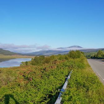 Loch Acahanlat, on the NC500 route by bike
