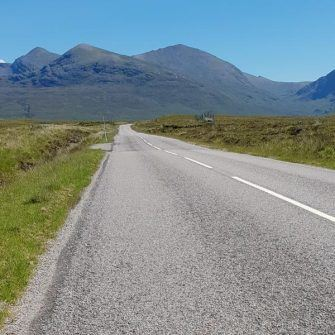 Scotland's NC500 route by bicycle: quiet road, hills ahead