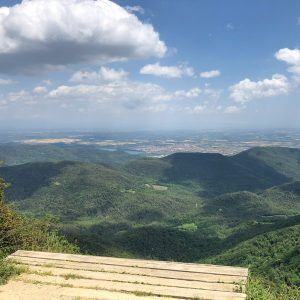 View from cummit of legendary cycling climb Rocacorba Girona