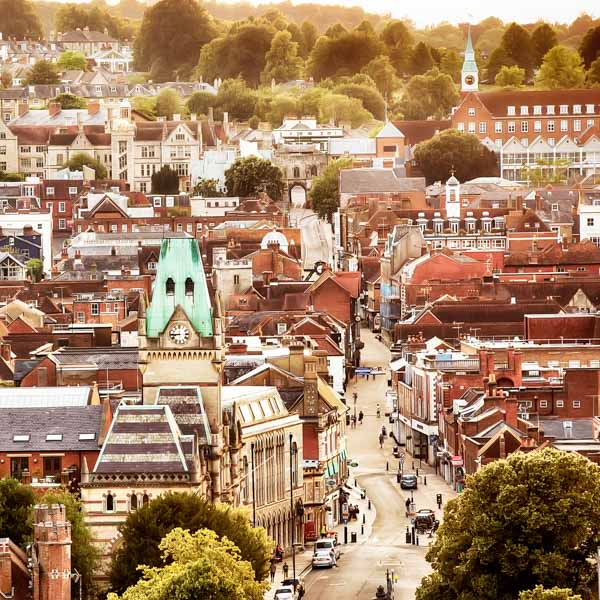 Aerial photo of winchester