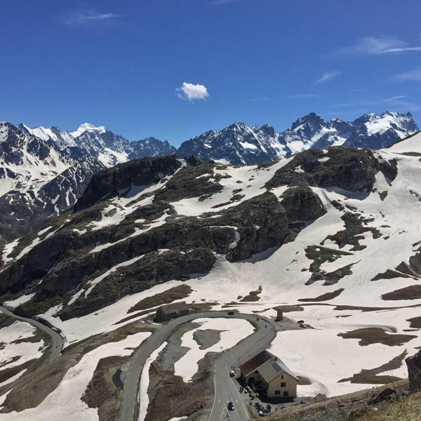 View from the Galibier on La Marmotte cyclosportive course