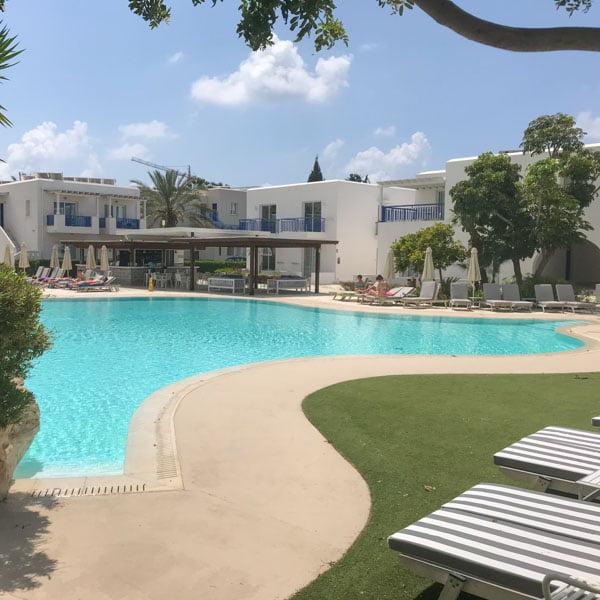 Swimming pool at the Aliathon sports hotel, Cyprus