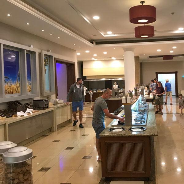 The Pantheon restaurant at the Aliathon hotel